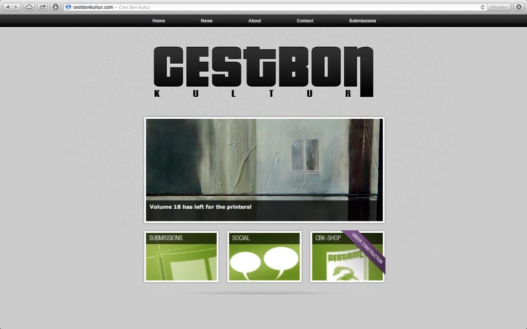 Cest Bon Kultur website - Design by Martin Flink