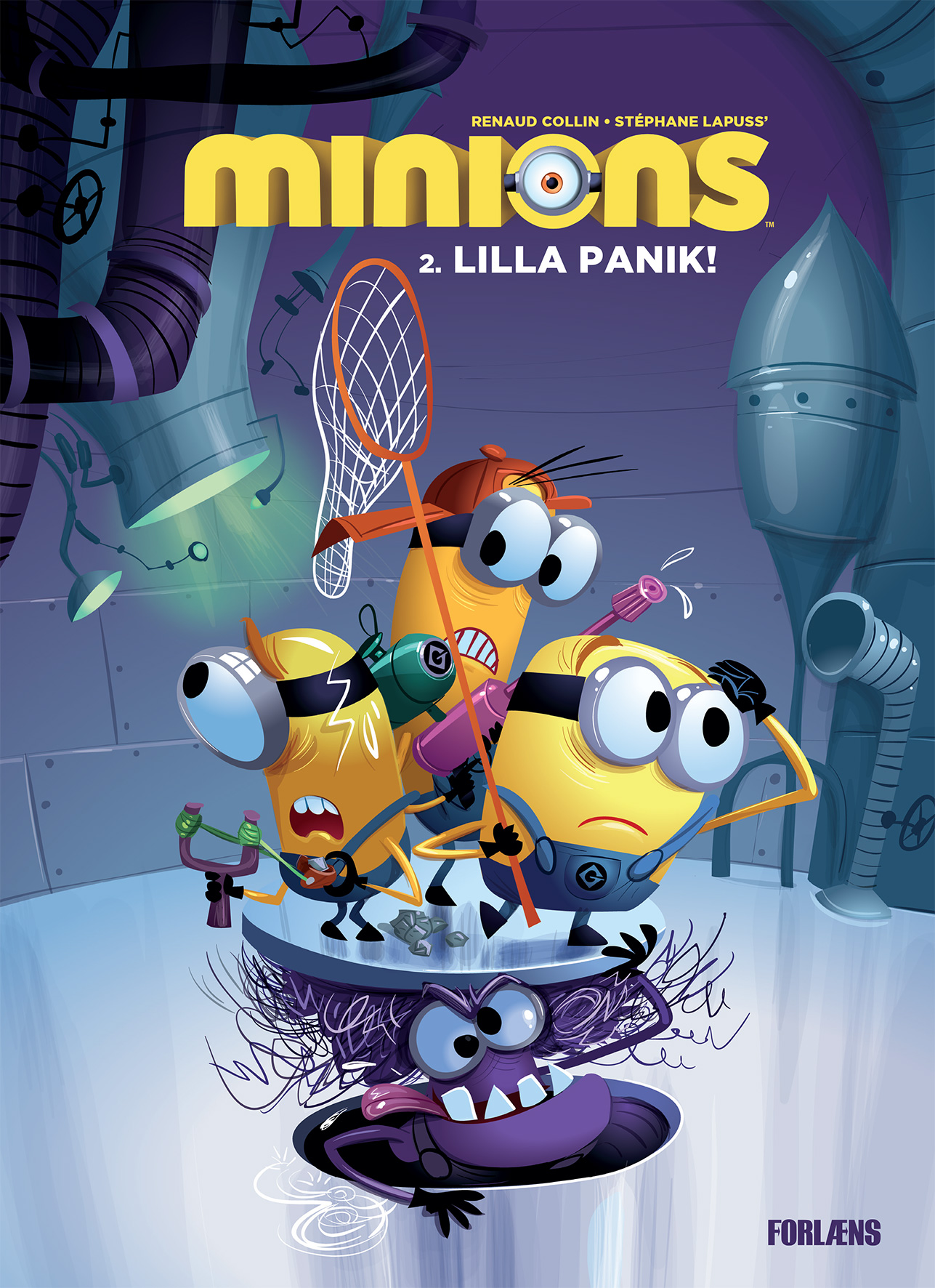 Minions 2 comic-book cover, Danish edition