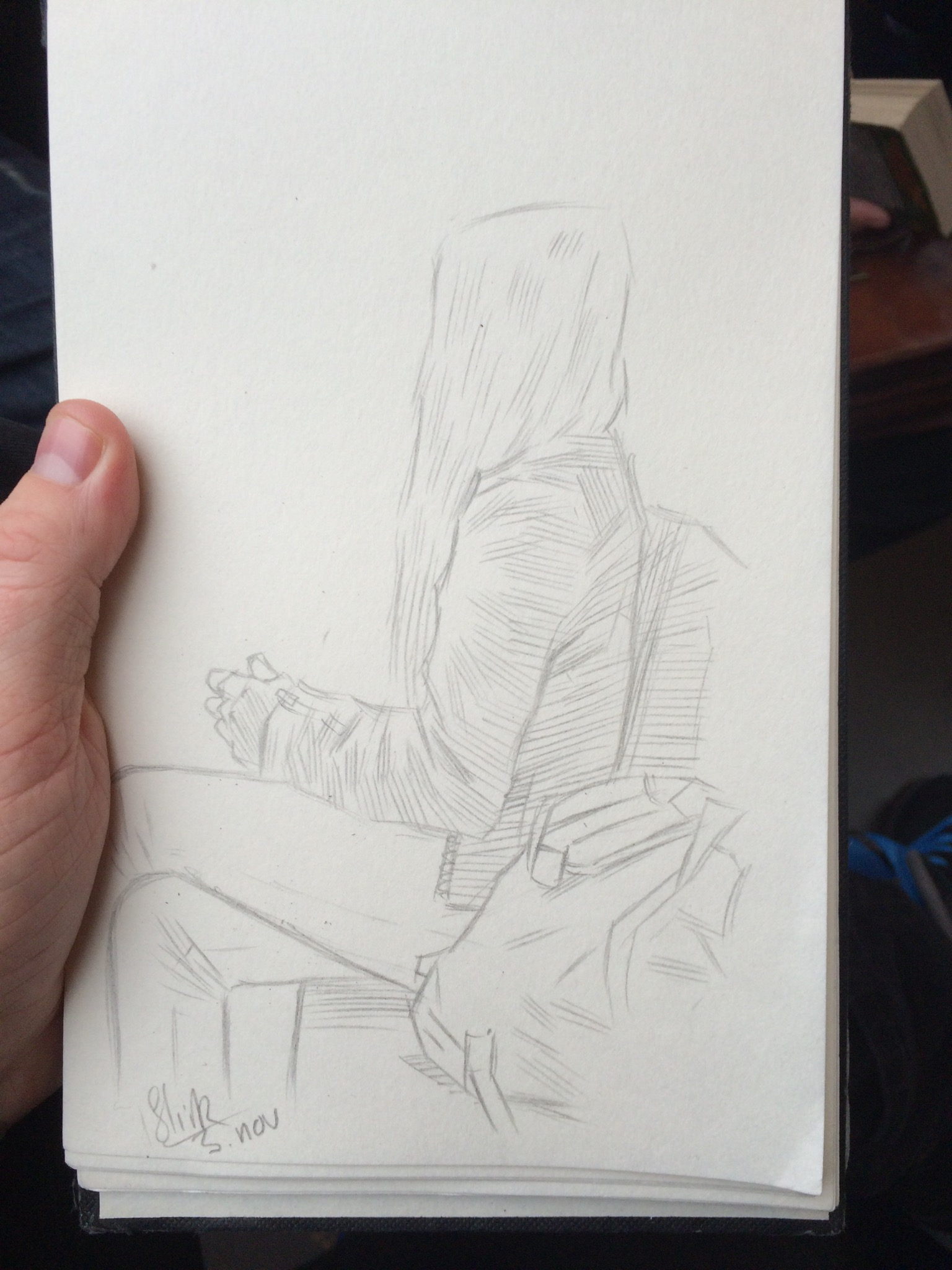 Sketchbook - Girl with yellow backpack