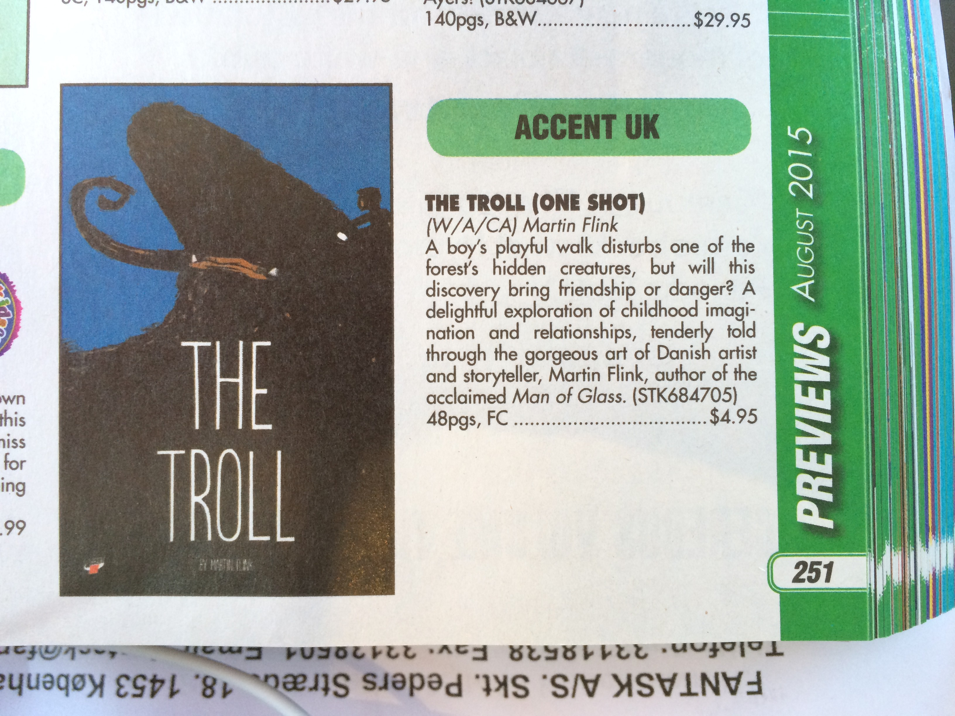 The Troll by Martin Flink on Previews August 2015