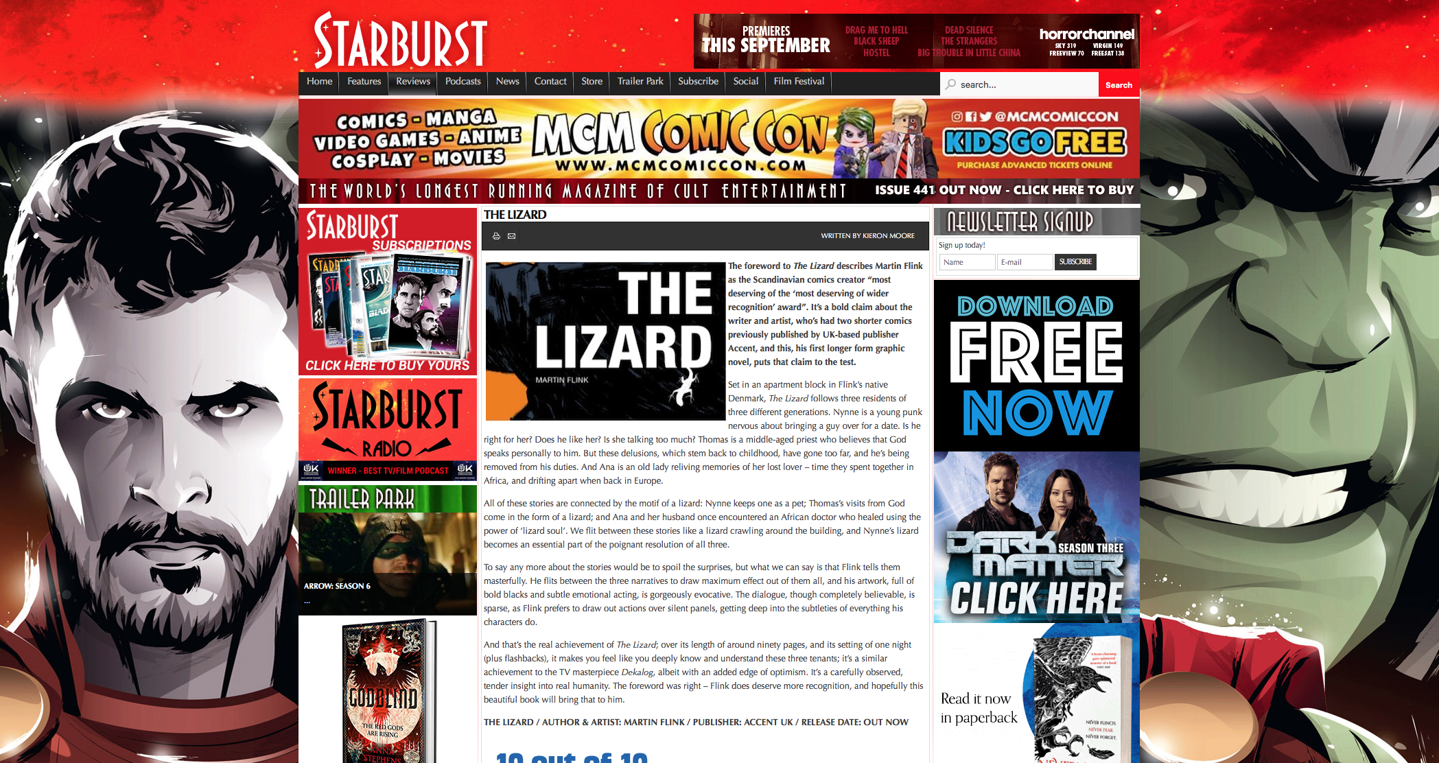 Starburstmagazine The Lizard review