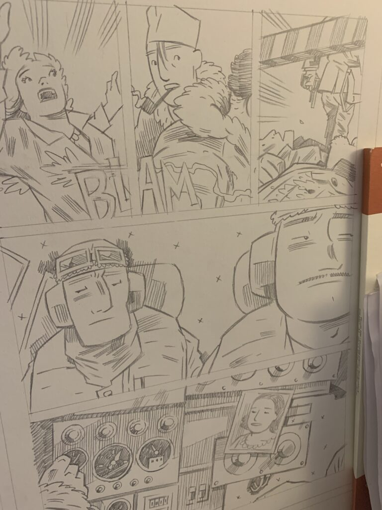 Pencil-page for Project ÆON page 16.