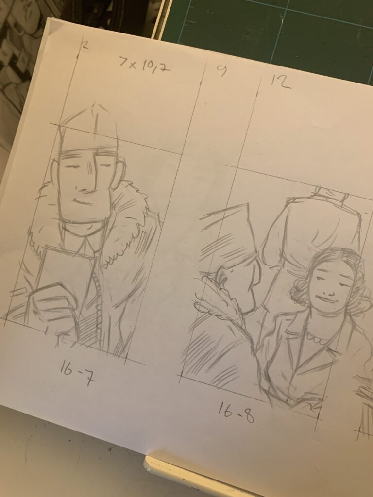 Some pencil-sketches for Project ÆON page 16